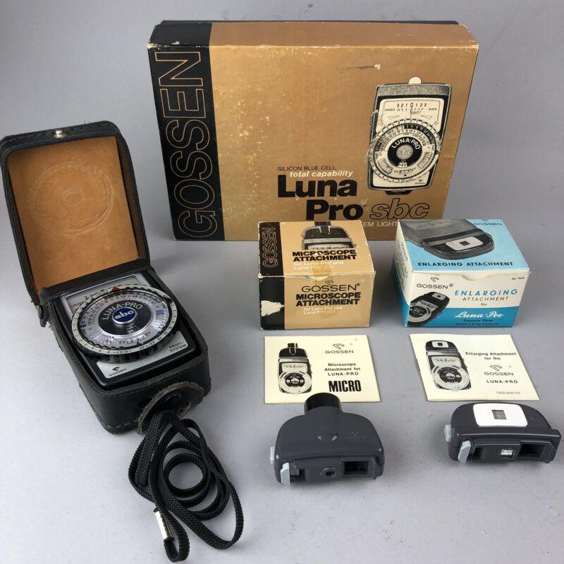 GOSSEN Luna Pro sbc Modular System Light Meter w/ 2 Attachments