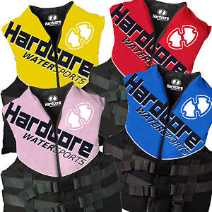 Hardcore-Life-Jacket-Ski-Vest-PFD-Adult-Child-Youth-Kids-Boys-Girls-Boating-SAFE