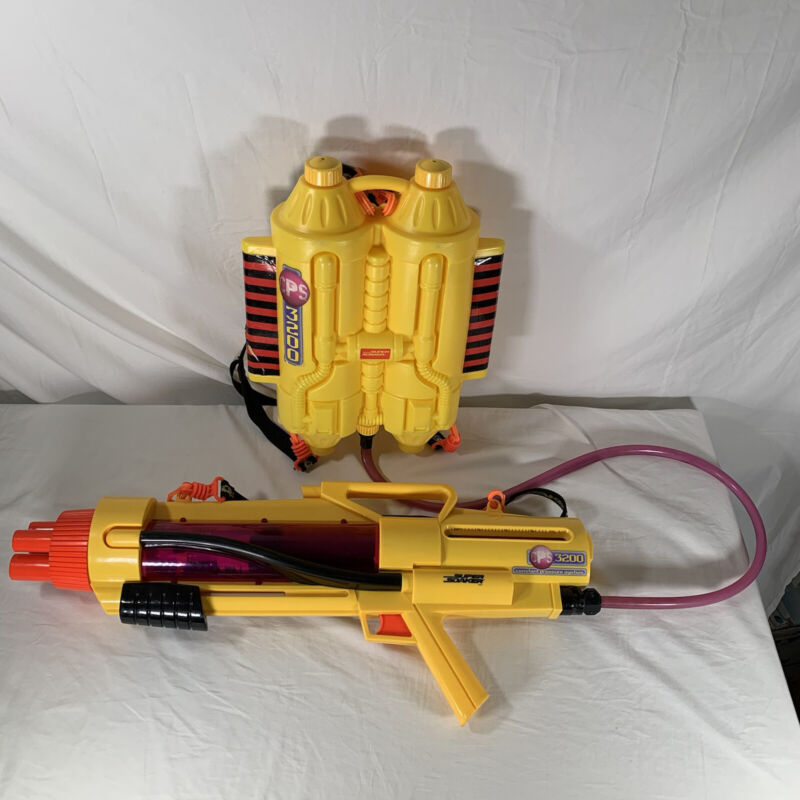 Vintage Super Soaker CPS 3200 Water Gun w/Backpack Complete & Working