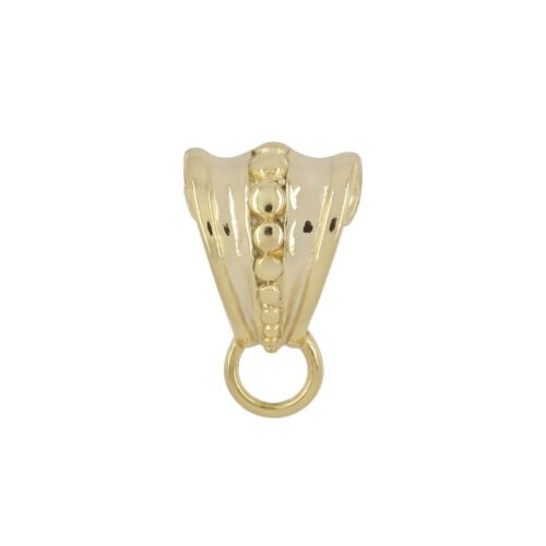Gold Plated Vintage Sterling Silver Pendant Bail Clasp Slider Connector #99667