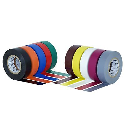 Stikk Multi Colored Electrical Tape 10 Pack 34 Wide 66 Feet 20 Meters Long