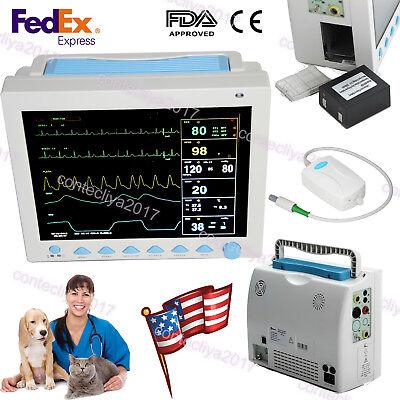 Etco2 Capnograph Vet Icu Patient Monitor Veterinary 7 Parameters Ccu Cms8000usa