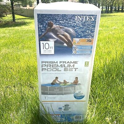 Intex 10 Feet x 30 Inches Above Ground Pool with 330 GPH Filter Pump Sealed Box