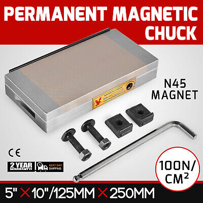 5 X 10 Fine Pole Permanent Magnetic Chuck N45 Magnet Material Neodymium