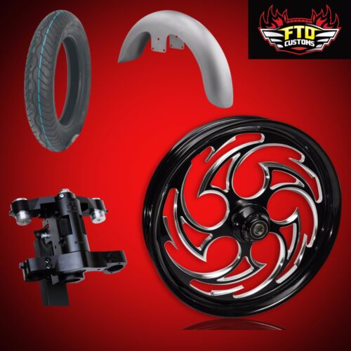 "Harley 26 Inch Big Wheel Builder Kit, Wheel, Tire, Neck, & Fender, ""predator"""