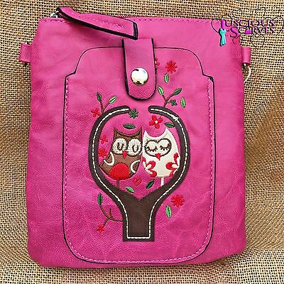 Childrens Felt Owl Bag with Brown Face and Pink Body OO24922A
