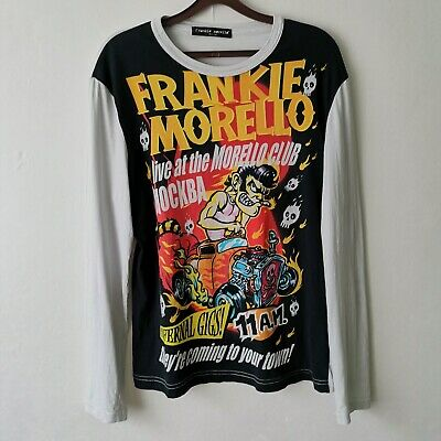 Vintage Rare FRANKIE MORELLO Graphic Shirt Longsleeve Comic Size - M