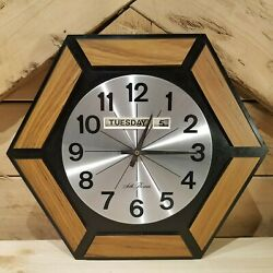 Seth Thomas Vintage Day Clock Wall Clock Octagon Battery Powered - Swanky Barn