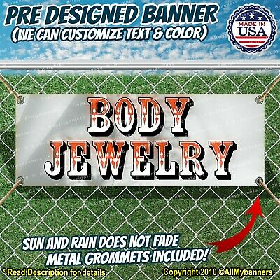 Body Jewelry Advertising Vinyl Banner Flag Sign Many Sizes Available Piercings