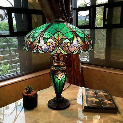Lamp Victorian Table Lamp - Tiffany Style Table Lamp Stained Glass Vintage Victorian Nightstand Office Desk