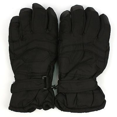 Men's Winter Thinsulate 3M Snow Grip Ski Hook&Loop Wrist Cover Gloves Black 2XL