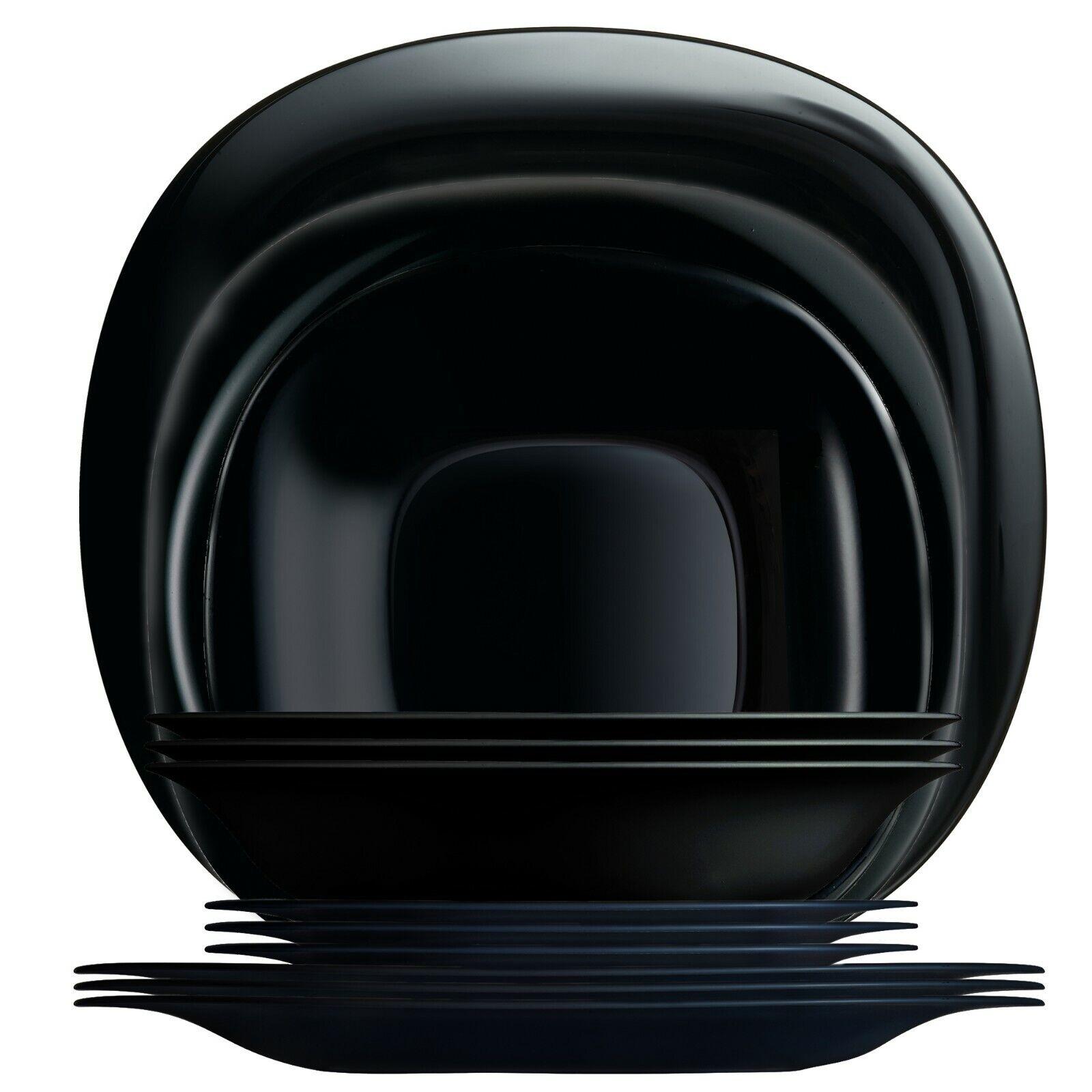 Luminarc - Carine Black Dinnerware Service for 4 - 12 PC Set