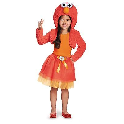 Sesame Street Tickle Me Elmo Costume Halloween Shrug N' Tutu Girl's Fancy Dress