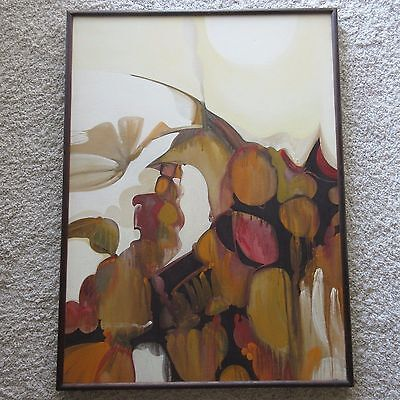 LARGE TAOGAEA EDDIE POWELL POP PAINTING ABSTRACT EXPRESSIONISM MODERNISM VINTAGE