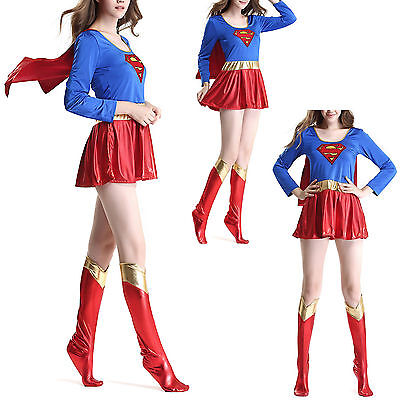 arnevale Donna Supergirl Woman Cosplay Costume SUGIR01 E (Super Girl Cosplay)