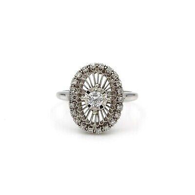 VINTAGE JABEL STARBURST DIAMOND & 18K WHITE GOLD RING, .53 CTW SIZE 7, E-72, used for sale  Saint Louis