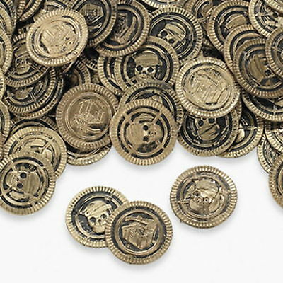PIRATEs GOLD coins (HUGE LOT OF 144PC) GREAT FOR GIFT BAGS,PINATAS,PIRATE (Pirate Pinata)