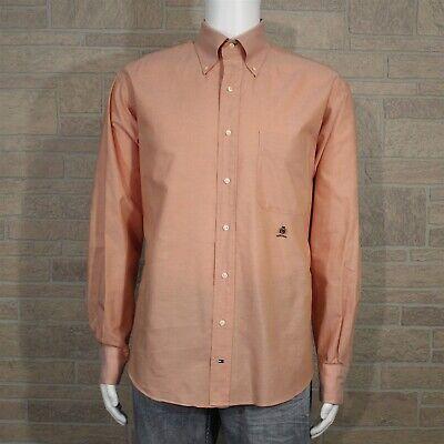 Tommy Hilfiger Men's LARGE 16 34/35 Button Down Dress Shirt Original Oxford