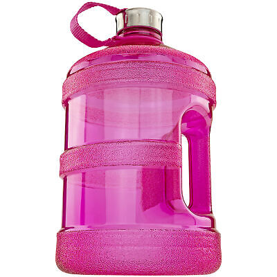 1 Gallon Reusable Pink Water Bottle BPA Free W Handle Great for Gym Office Daily Home & Garden