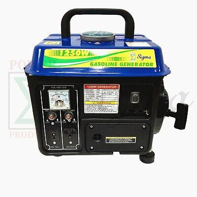 Miami Pickup 1250 Watts Portable Gasoline Generator Power 2 Stroke Rv Camping