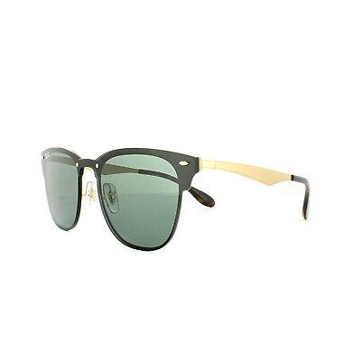 Ray-Ban Sunglasses Blaze Clubmaster 3576N 043 71 Gold Green b0d95ad874b