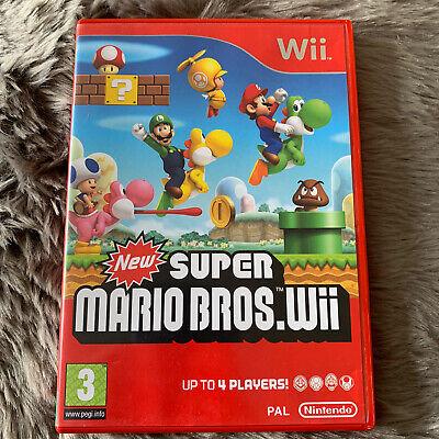 New Super Mario Bros Nintendo Wii, Manual Included.