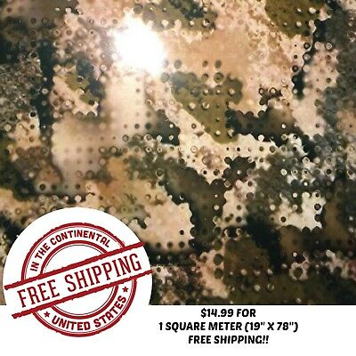 Hydrographic Water Transfer Hydro Dip Film Army Camo 5 1sq 19 X 78