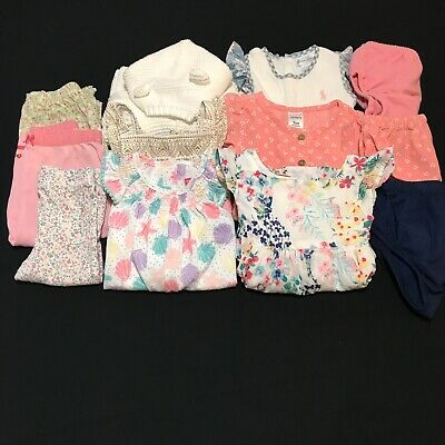 Baby Girl Clothes 9 Month Mixed Lot Carter's OshKosh  Ralph Lauren Etc. 12 Piece