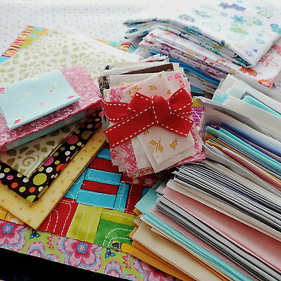 100g Fabric Scrap Bag Moda & Others Designers Remnants Strips of Fabric Off Cuts