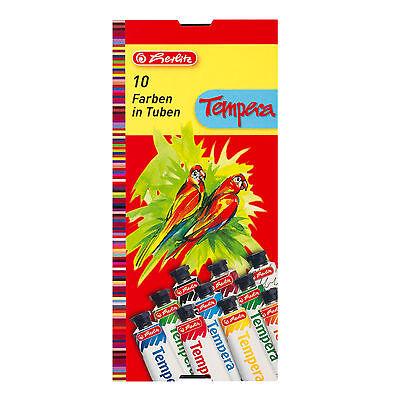 Tempera Paint Tube (Herlitz Temperafarbe 10 Tuben Temperafarben Malfarben tempera paint 10 tubes)
