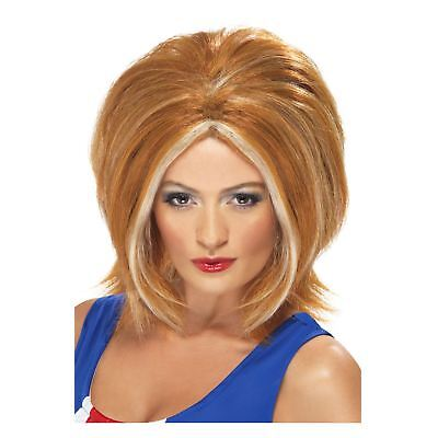 Spice Girl Kostüm (Adult Ladies 90s Girl Power Pop Band Ginger Wig Costume Accessory Spice Iconic )