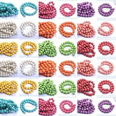 Beads - Wholesale Howlite Turquoise Gemstone Round Loose Spacer Beads 6MM 8MM 10MM 12MM