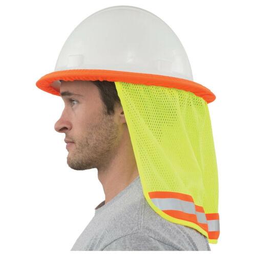 Hi-Viz Mesh Neck Shield (Lime) for Hard Hats