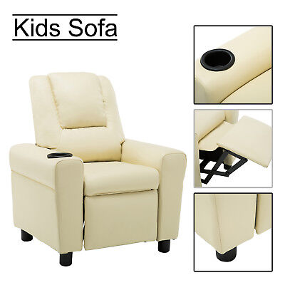 Recliner Kids Teen Sofa Armrest Armchair Couch Children Toddler Birthday Gift Girls