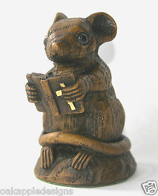 Church Mouse Bible Ornament Hand Made Unique Mice Gift Unique Collectable Prayer