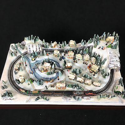 Hawthorne Village Thomas Kinkade Miniature Christmas Crossing Train 2008 VIDEO