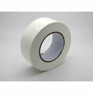 STRONG-RELIABLE-50m-x-48mm-WHITE-ADHESIVE-GAFFA-DUCT-DUCK-CLOTH-REPAIR-TAPE-DIY