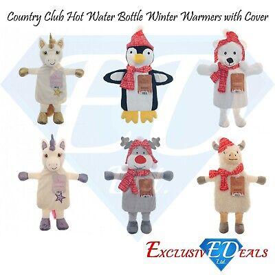 Cute Hot Water Bottles with Winter Warmer Novelty Fun Animal Cover 1 Litre](Fun Water Bottles)