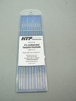10 Htp 2 Lanthanated Tungsten Tig Electrodes 116 X 7 Blue