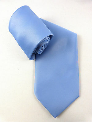 ELEGANTE DAMEN UNI KRAWATTE WOMEN´S TIE HELL HIMMEL BLAU LIGHT BLUE