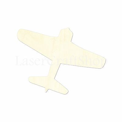 Fighter Airplane Wooden Cutout Shape, Silhouette, Tags Ornaments Laser Cut #1441