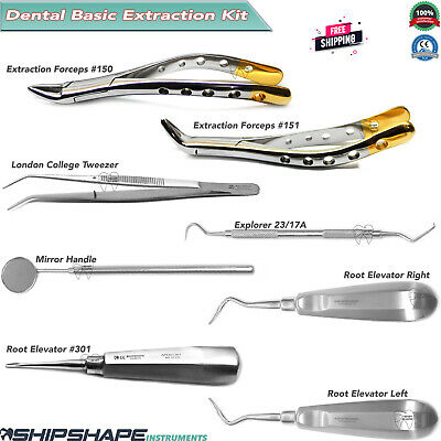 Basic Oral Surgery Instruments Kit Tooth Extracting Dental Extraction Forceps .