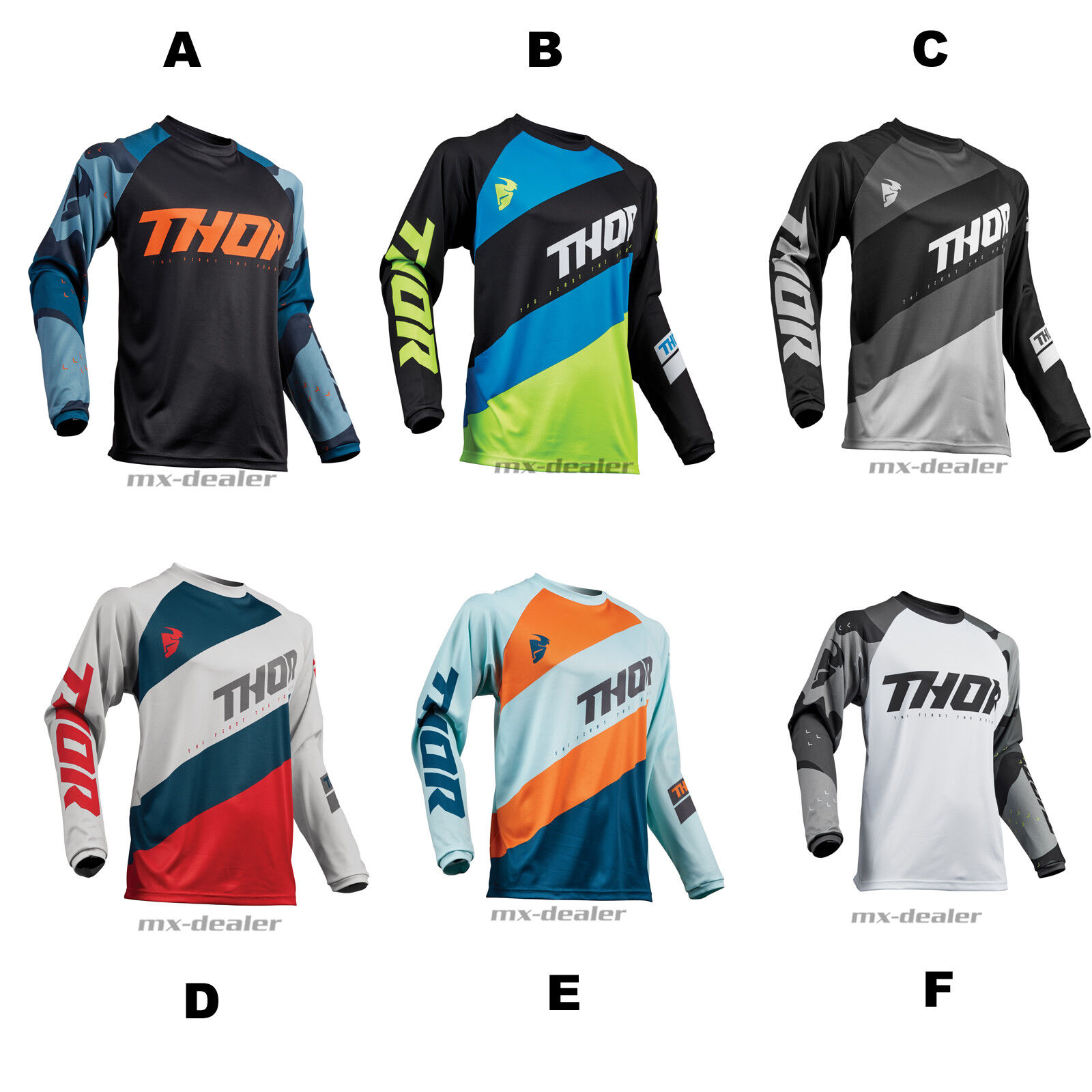 2019 Thor Sector Cross Jersey Trikot motocross Enduro MX BMX DH MTB Quad Offroad