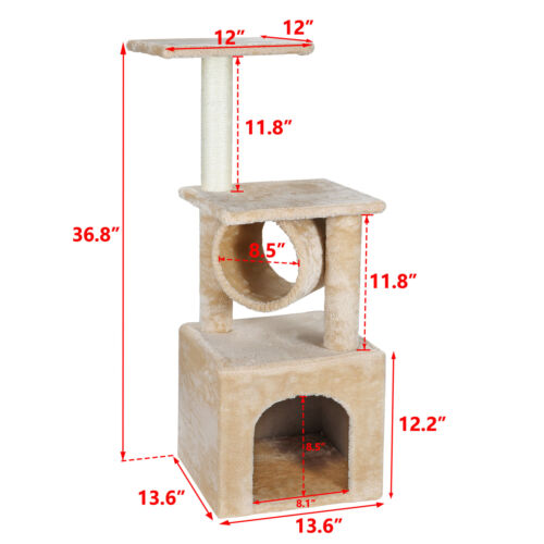 ACTIVITY CAT TREE TOWERS PET HOUSE CAVE WITH SCRACHING POSTS CLIMBING LADDER Cat Supplies