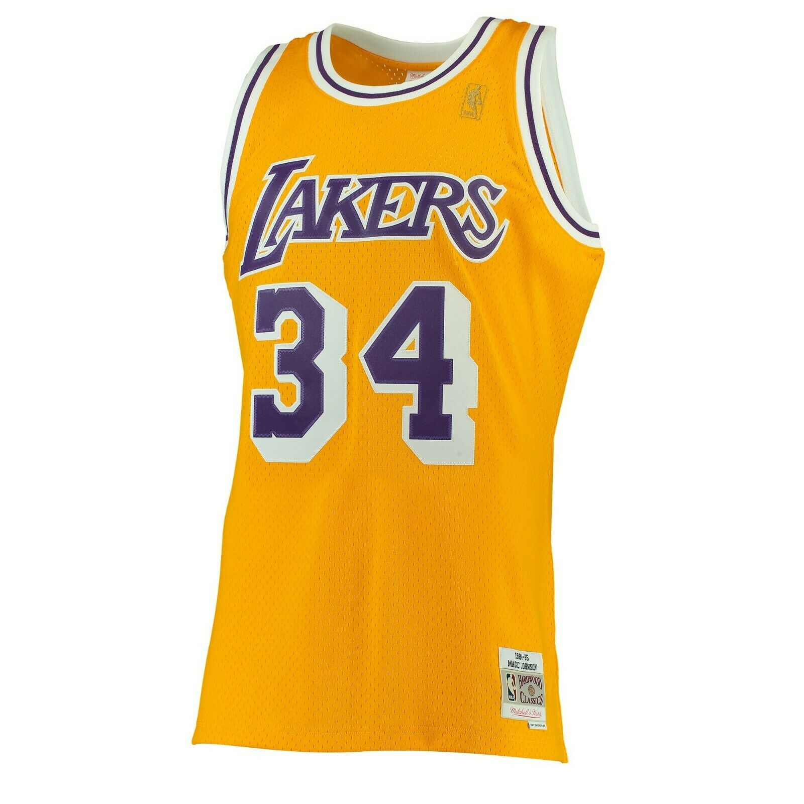huge selection of 604dc b78dd Shaquille O neal  34 Los Angeles Lakers Mitchell Ness NBA Swingman Jersey  Yellow