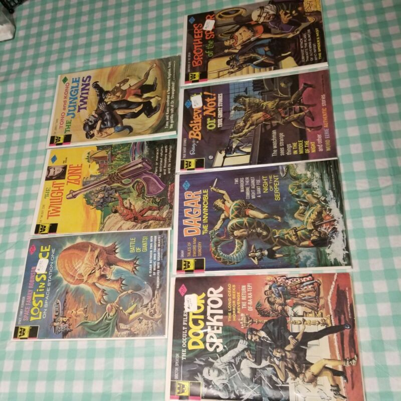 Twilight Zone  lost in space and more Comic Book Lot gold key Whitman