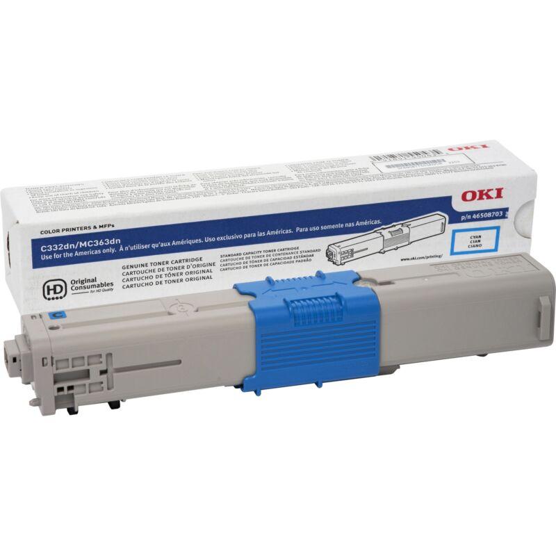 OKI Toner Cartridge f/C332/MC363 3 000 Page Yield CYN 46508703