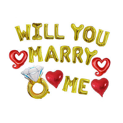 Will You Marry Me Balloons (Valentines Day Balloons, Will You Marry Me Balloons, Marriage Proposal)