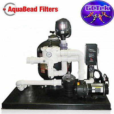GC Tek AquaBead 2.5 Filter System AB2.5 for Ponds To 5,000 Gallons 125 Fish Load