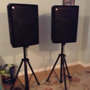 Pair of Yorkville YX15C 300 Watt DJ Speakers $350.00